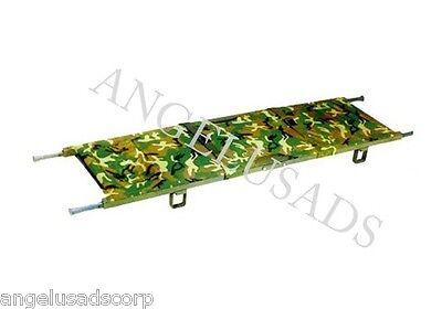 Medical Emergency Folding Portable Camouflage Stretcher Aluminum Mobile Camilla