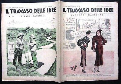 IL TRAVASO DELLE IDEE 1935 Organo ufficiale delle persone intelligenti RARO