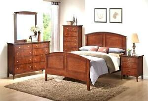 Elegant Queen Bedroom Set 6 Pieces (Brand New)