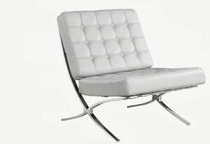 BRAND NEW!! BONDED LEATHER BARCELONA CHAIR ON CLEARANCE