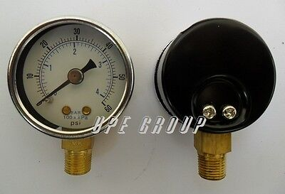 New Pressure Gauge Wog Air Compressor Hydraulic 1.5face 0-60 Lower Mnt 18npt