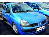 RENAULT CLIO 2003 57,000 MILES 1.4 PETROL AUTOMATIC 5 DOOR HATCHBACK BLUE
