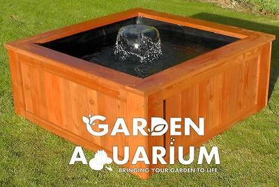 Raised Square Garden Fish Pond / Water Feature (700 Liters)