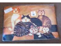 Brand New Door Mat from Betterware with picture of Cats