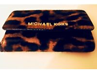 Michael kors cheetah leopard print Iphone 5 wallet case