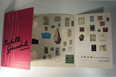 E.R.A.R. Fratelli Giuntoli, opuscolo pubblitario con etichette