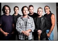 2 Pearl Jam standing tickets for tonight at o2 Arena Monday 18th June 2018