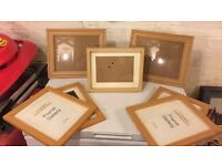 Selection of picture frames x7
