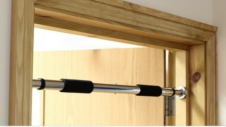 Doorway Telescopic Pull Up Gym Bar Extendable In
