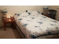 Kingsize divan bed with memory foam mattress (Mattress protector always used)
