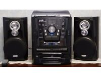 Stereo 3CD mini Hi-Fi System with Radio, Cassette & Turntable