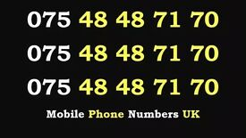 075 48 48 71 70 Gold O2 Mobile Phone Number Sim Card