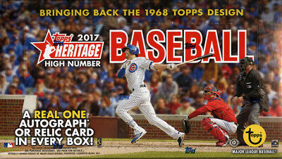 2017 TOPPS HERITAGE HIGH NUMBER BASEBALL HOBBY BOX FACTORY SEALED NEW
