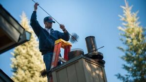 Chimney sweep, eavestrough cleaning, window cleaner