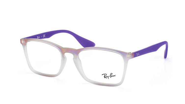 63d4ccd4293b4 Ray Ban RX7045 5600 55MM Chris Men s Grey Frame Clear Lens Genuine  Eyeglasses