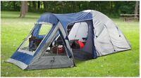Camping: Sleeping bags, coleman stove burner, costco tent skeena