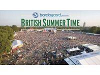 Green Day British Summer Time Hyde Park 2 tickets