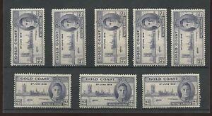 GOLD-COAST-1946-VICTORY-2d-PERF-13-1-2-x-14-SG133-MINT-8-stamps-cv-128