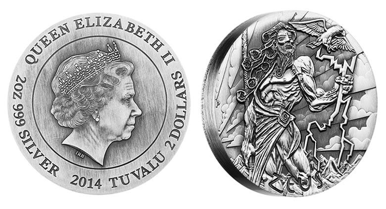 Australia 2014 Gods Of Olympus ZEUS 2oz Silver High Relief Coin Mint 1500 Zues