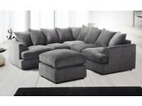 **BEST SELLING BRAND**New Liverpool Jumbo Cord Corner or 3+2 Seater Sofa Set in Variety of Colors