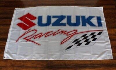 Suzuki Banner Flag Racing Team Checkered Motorcycle Bike Biker Motocross - Checker Flags