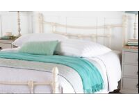 King-size 5ft traditional Ivory bedframe