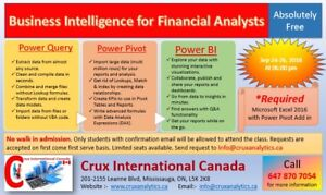 Business Intelligence for Financial Analysts-Free Training