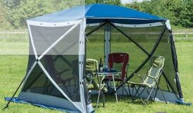 BRAND NEW Quest Instant 4 sided Quick Up Spring Up Screen House Gazebo Awning with 4 side panels