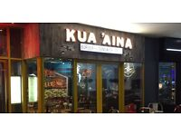 Kitchen Staff required for busy Hawaiian Restaurant - All Levels