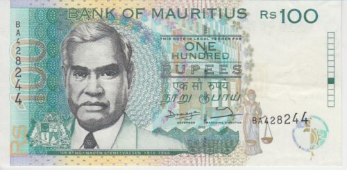 Mauritius Banknote P44-8244 100 Rupees, XF
