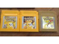 Nintendo Gameboy Pokemon Games