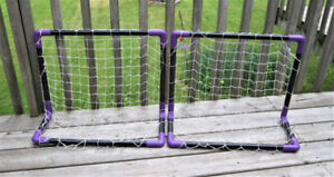 Two PVC Mini Stick Collapsible Hockey Nets