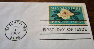 1967 150th Anniversary Mississippi Statehood First Day Cover Kitchener / Waterloo Kitchener Area image 3