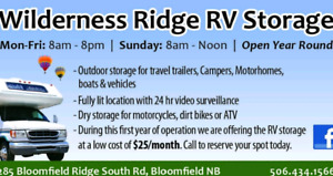 Wilderness Ridge RV Storage. NOW OPEN!!
