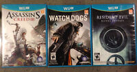 Three Wii U Games