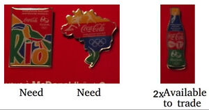 McDonalds Rio 2016 Olympic pins for trade