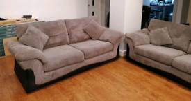 2 DFS 3 Seater Sofa's