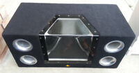 10 Inch Sony Xplode Subs with Alpine Amp and Enclosure