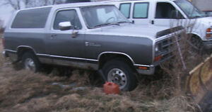1991 DODGE RAMCHARGER for PARTS