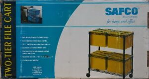 Safco Two-Tier Rolling File Cart in unopened box
