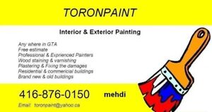 professional painting from 200$ per room (paint included)