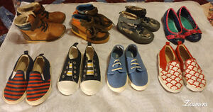 Size 8 and 9 Old Navy High Tops & Canvas Slip-Ons.