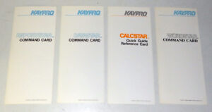 KayPro Computer 4 piece Reference Card Set