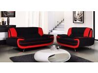 SAME DAY FAST DELIVERY:: BRAND NEW CAROL 3+2 SEATER LEATHER SOFA---CASH ON DELIVERY