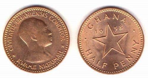 Ghana 1958 1/2 Penny Uncirculated (KM1)
