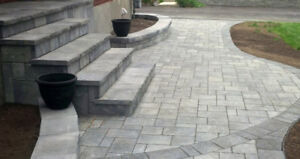 Patios and walkways and driveways