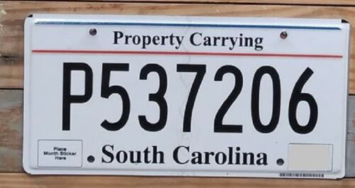 South Carolina Property Carrying Expired License Plate~ P537206 ~ Flat