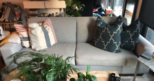 Mid Century Modern Sofa - Wood Frame - Made in Canada
