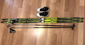 Kids Fischer X-Country Ski Package (skis, boots, poles)