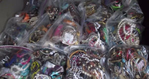 Bags of jewelry $5.00ea. Will deliver. Worth $100.0+, each bag